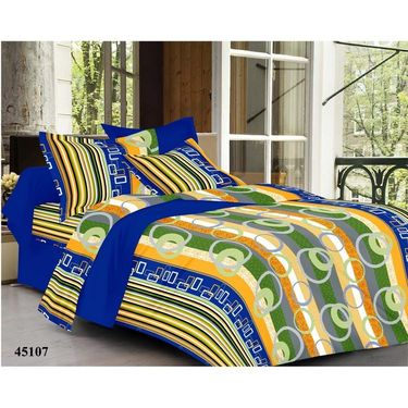 Valtellina Combo of 4 Double Bed Sheets with 8 Pillow Covers-YTD_C2_30_34_48_53