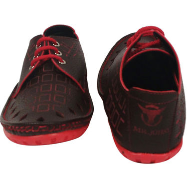 Synthetic Leather Red Casual Shoes -oy07