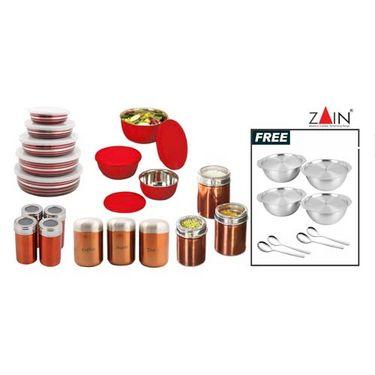 Buy zain 18 pc kitchen set online at best price in india for Naaptol kitchen queen set