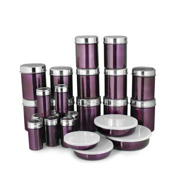 Buy zain jkss 8080 24pcs stainless steel storage set for Naaptol kitchen queen set