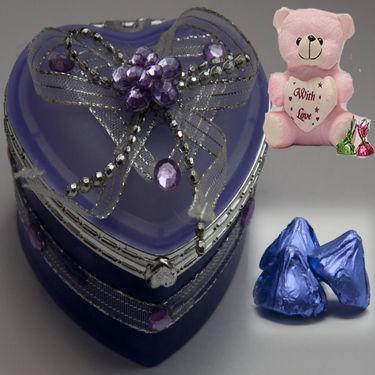 Aqua Box Chocolates For My Valentine
