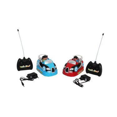 Rechargeable RC Bumper Cars - Set of 2