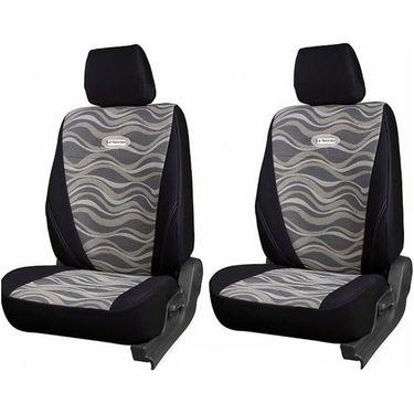 Branded Printed Car Seat Cover for Hyundai Santro Xing - Black