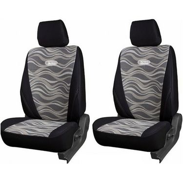 Branded Printed Car Seat Cover for Nissan Micra - Black