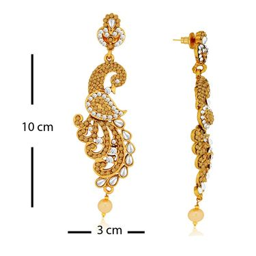 Spargz Combo of 4 Pair Peacock Design Studded Earring_Cb313