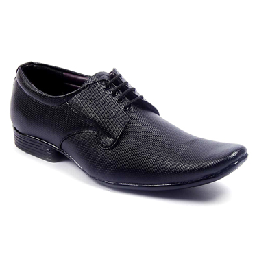Foot n Style Faux Leather Formal Shoes  FS107 - Black