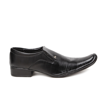 Foot n Style Faux Leather Formal Shoes  FS171 - Black