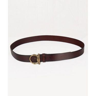 Branded Casual Leather Belt For Men_frg_bw - Brown