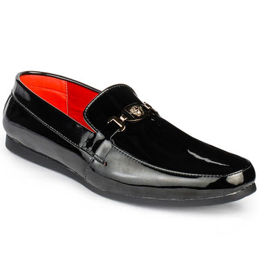 Foot n Style Patent Leather Black Formal Shoes -fs3017