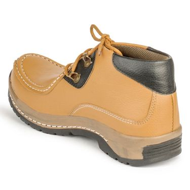 Foot n Style Nubuck Leather Tan Casual Shoes -fs3033