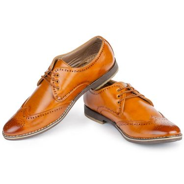 Foot n Style Cordovan Leather Brown Casual Shoes -fs3035