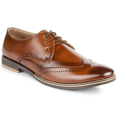 Foot n Style Cordovan Leather Brown Casual Shoes -fs3036