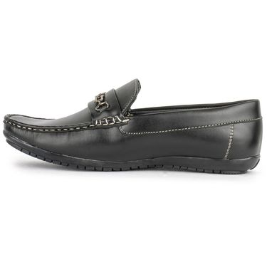 Foot n Style Black Loafers -Fs3060