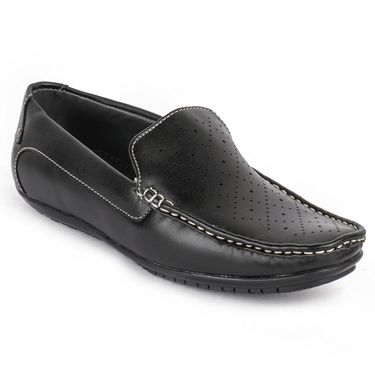 Foot n Style Black Loafers -Fs3064
