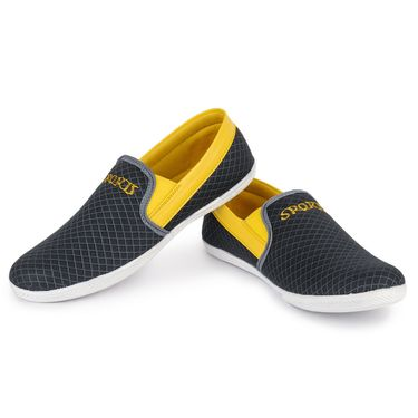 Foot n Style Grey & Yellow Casuals  Shoes -Fs3067