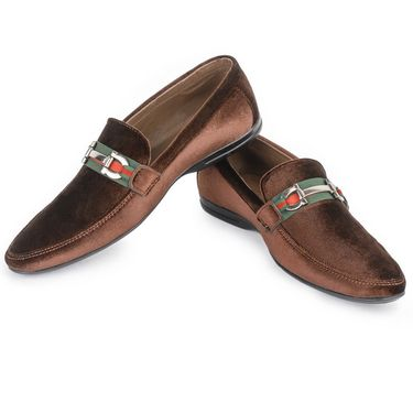 Foot n Style Maroon Loafers -Fs3083