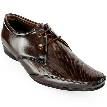 Foot n Style Patent Leather Brown Formal Shoes -fs3091