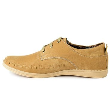 Foot n Style Suede Leather Beige Casual Shoes -fs3124