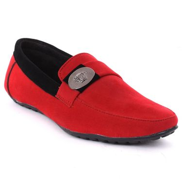Foot n Style Red Loafers Shoes -Fs3168