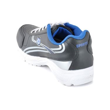 Foot n Style Synthetic Leather Sports Shoes FS 487 -Grey & White