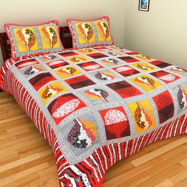 Set of 10 Double BedSheets With 20 Pillow Covers-grj-db-10-5