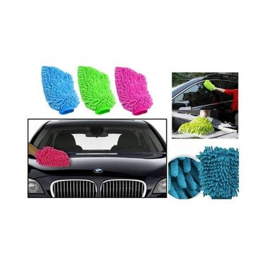 Car Cleaning Gloves with Glade Perfume Gel - Set of 3