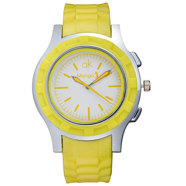 Mango People Analog Round Dial Watch For Unisex_mp037 - White