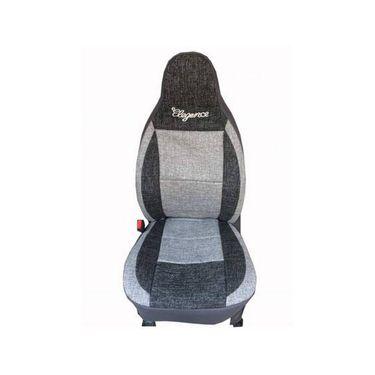 Car Seat Cover For Toyota Innova-Black & Grey - CAR_11029