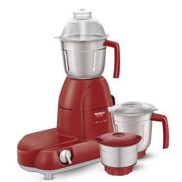 Maharaja Whiteline Smart Chef Red Treasure  Mixer Grinder Red & Silver