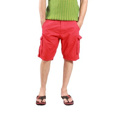 Uber Urban Cotton Shorts_ub14 - Red
