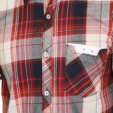 Sparrow Clothings Cotton Checks Shirt_wjc01 - Red