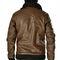 Branded Full Sleeves Leatherite Jacket For Men_osai_Brown