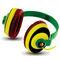 Amkette Trubeats Freespirit Rasta Headphones - Green & Yellow