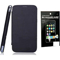 Combo of Camphor Flip Cover (Black) + Screen Guard for Micromax A250