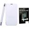 Combo of Camphor Flip Cover (White) + Screen Guard for Nokia 502
