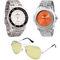 Combo of Dezine 2 Analog Watches + 1 Aviator Sunglasses_DZ-CMB108