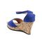 Ten Suade Leather 279 Women's Wedges and Platforms - Blue