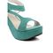 Ten Suade Leather 270 Women's Wedges and Platforms - Sea Green