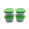 Cutting EDGE Veggie Fresh Refrigerator Storage 1500ml Container Set of 4 With Special Freshness Trays Green
