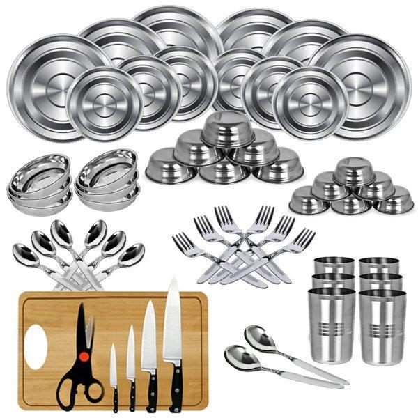 Naaptol 50 pcs stainless steel dinner set knife set for Kitchen set naaptol