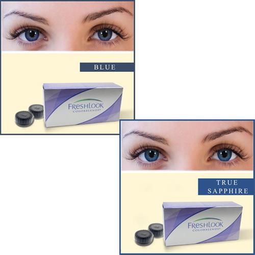 of 2 Ciba Vision Freshlook Contact Lenses - True Sapphire And BlueTrue Sapphire Contact Lenses