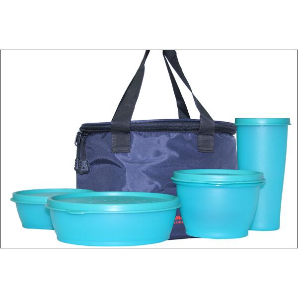 Buy Princeware 5pcs Lunch Box Set Blue Online At Best