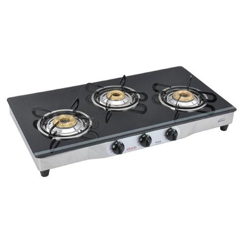 Buy Advanta Spark 3 Burner Glass Cooktop Black Online At