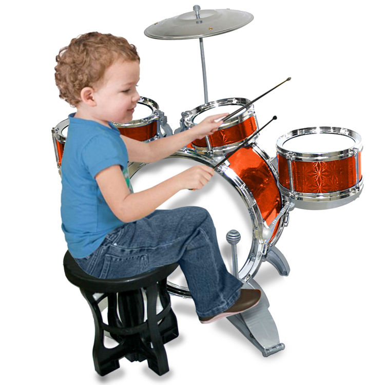 buy kids mini jazz drum set of 5 drums cymbal drum sticks pedal stool online at best price. Black Bedroom Furniture Sets. Home Design Ideas