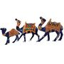 GRJ India Set of 3 Metal Camel With Meena Art