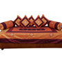 Little India 8 Piece Diwan Set  - Brown & Golden