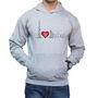Effit Printed Regular Fit Full Sleeves Cotton Hoddies for Men - Grey_PTLHODY0058