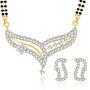 Sukkhi Gold Finished Mangalsutra Set - White & Golden - 154M1500