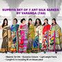 Supriya Set of 7 Art Silk Sarees by Varanga (7A6)