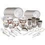 Klassic Vimal 121 Pcs Stainless Steel Dinner Set - Silver